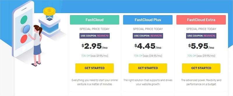 Cloud Hosting FastComet planes de precios