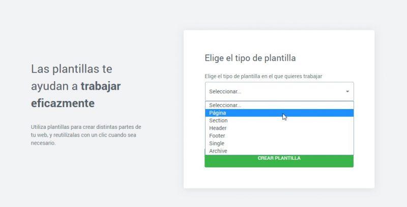Crear plantilla con Elementor free