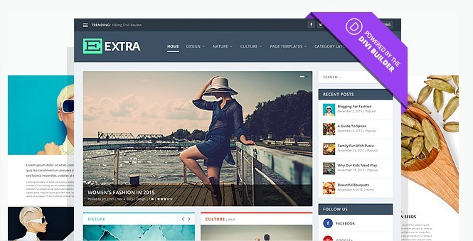 Extra wordpress blog theme