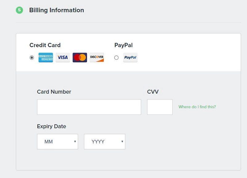FastComet - metodos de pago