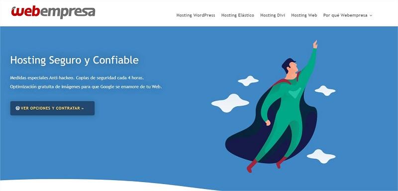 Hosting WordPress Webempresa