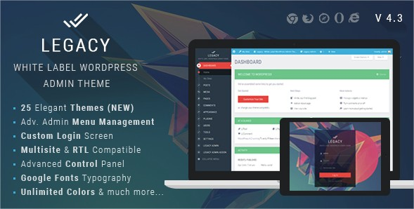 Legacy WordPress Admin Theme