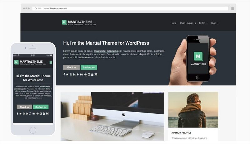 Martial -wordpress theme blog ThemeFurnace -