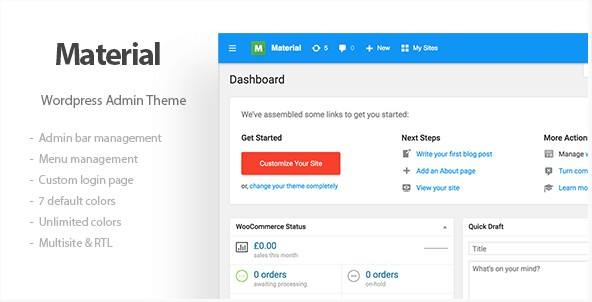 Materil - WordPress Material Design Admin Theme