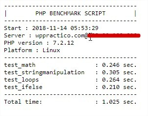 PHP Benchmark Script test FastComet Hosting