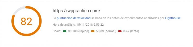 PageSpeed Insights fastcomet movil 2
