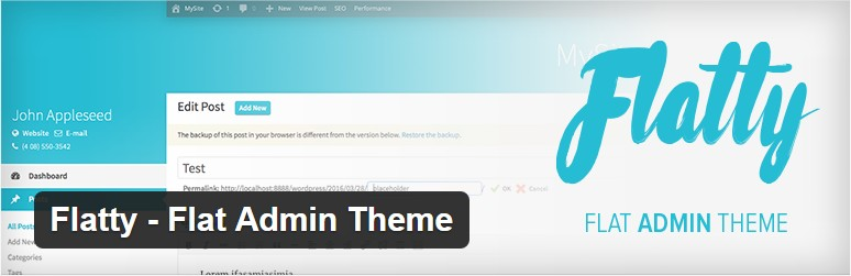 Plantilla admin WordPress