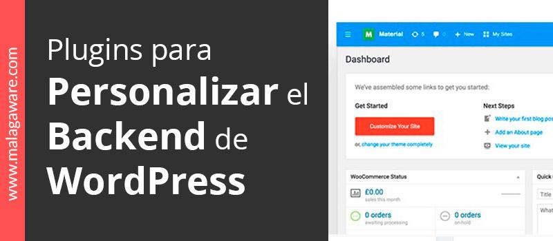 Plugins para personalizar el backend de WordPress