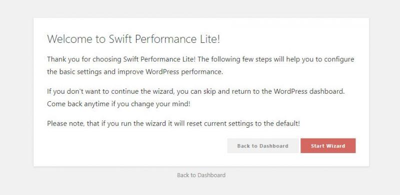Swift Performance configuración 1