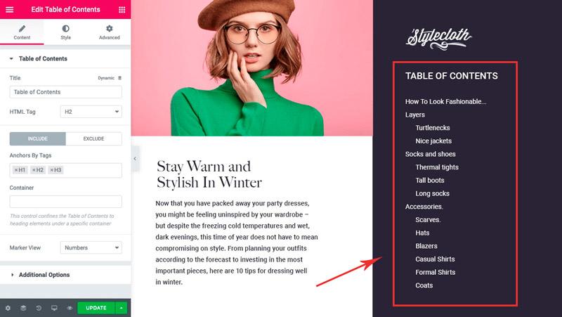 Table-Of-Content-widget-elementor-pro
