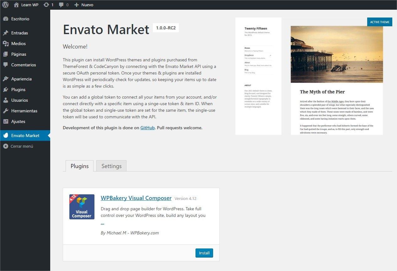 actualizaciones automáticas plugins codecanyon