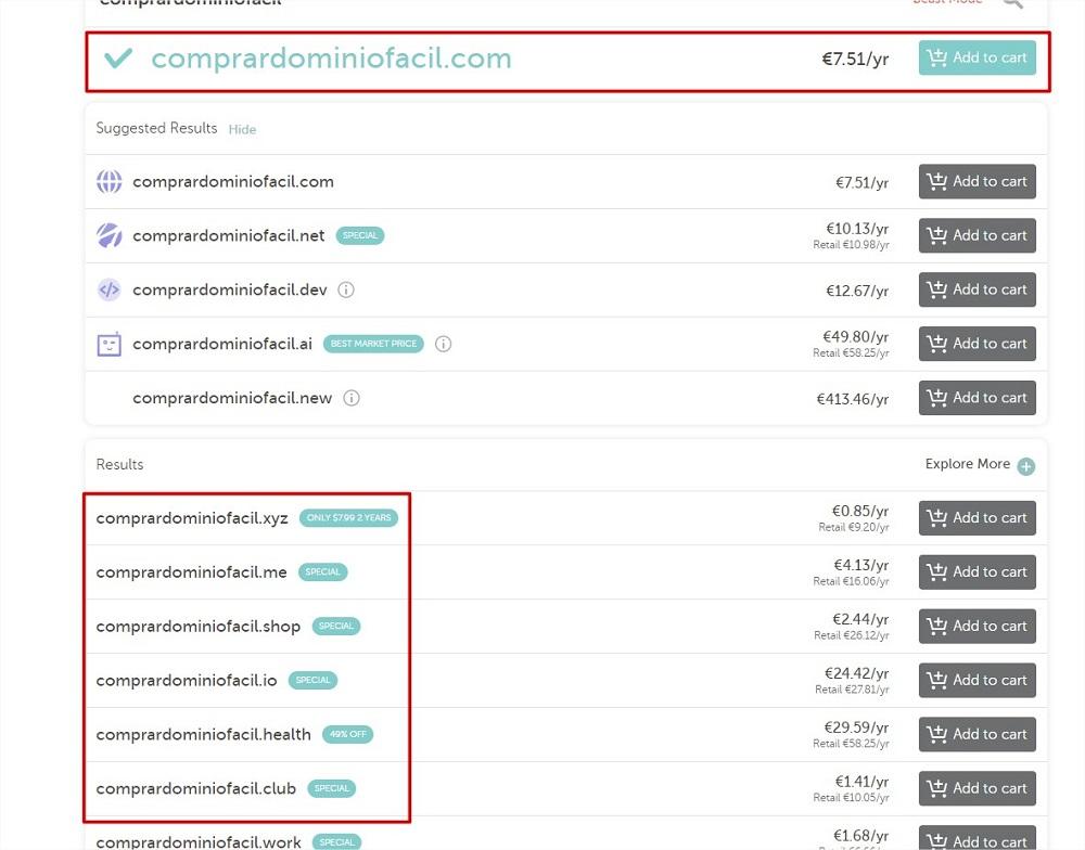 Paso 1: Comprar dominio en Namecheap