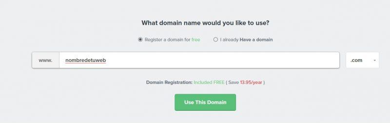 contratar nombre de dominio con FastComet