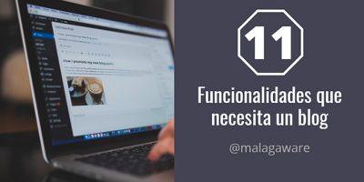 funcionalidades que necesita un blog