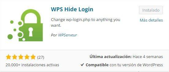 Instalar y configurar WPS Hide Login