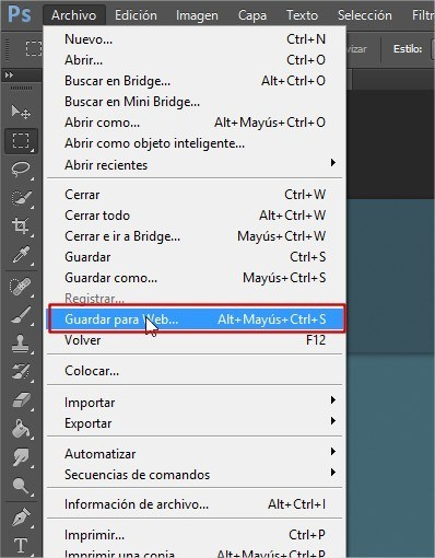 optimizar imagenes photoshop